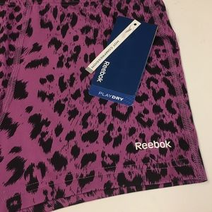 Reebok Shorts - Reebok Purple Animal Print Compression Shorts